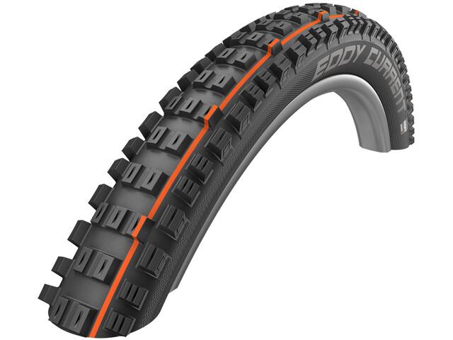 "SCHWALBE Eddy Current Front Super Trail Evolution Folding Tyre 27.5x2.60"" TLE E-50 Addix Soft, black"